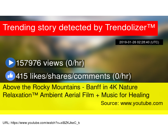 Above the Rocky Mountains - Banff in 4K Nature Relaxation™ Ambient
