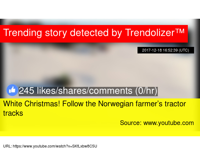 white christmas follow the norwegian farmers tractor tracks - Youtube White Christmas