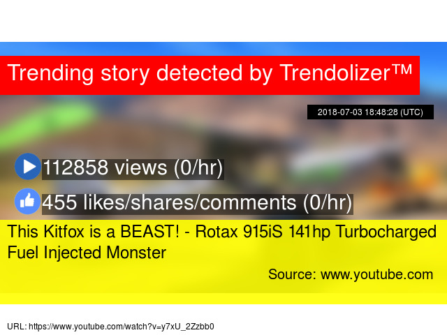 This Kitfox is a BEAST! - Rotax 915iS 141hp Turbocharged